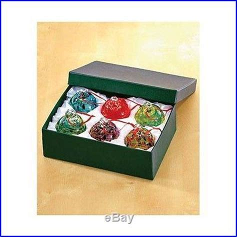 christmas tree decorations gift boxes set 6 glass ornaments gift box tree decoration ornaments decor