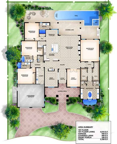 monsterhouse plans monster house plan luxury style house plans 4016 square foot home 1 story