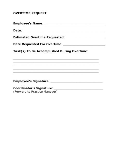 Request Letter Sle For Overtime Documentation Of Human Resource Matters Is Important For Any Practice