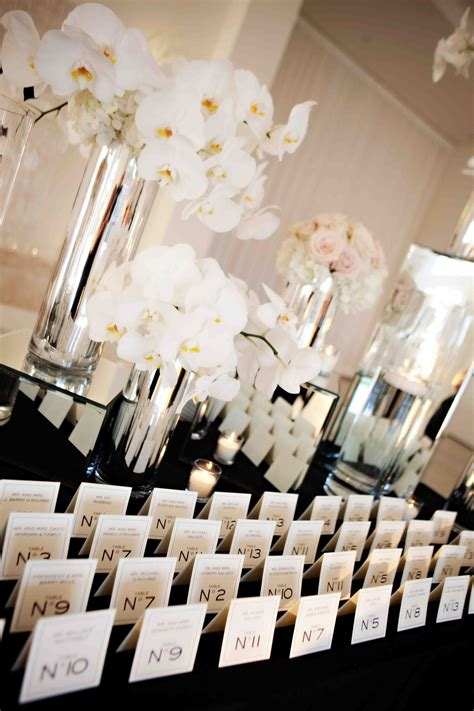 chanel inspired place cards bridal shower decor