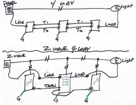 ge z wave 3 way dimmer switch wiring diagram 44 wiring