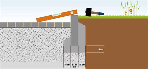 Borde Setzen Beton by Wie Werden Randsteine Gesetzt