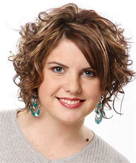 curly hairstyles round chubby faces 7 short curly haircuts for round faces short hairstyles