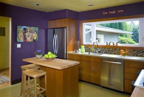 Purple Painted Kitchen by 19 Kitchen Wall Decor Ideas Designs Design Trends