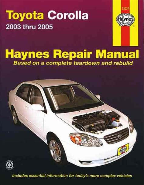 hayes auto repair manual 2003 toyota camry navigation system toyota corolla zze122r 2003 2005 haynes owners service repair manual 156392613x