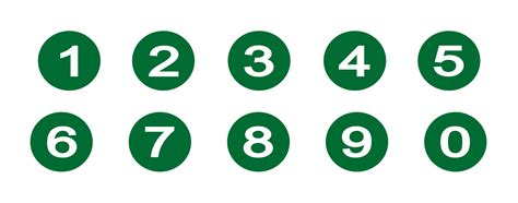 clip numbers numbers clipart best