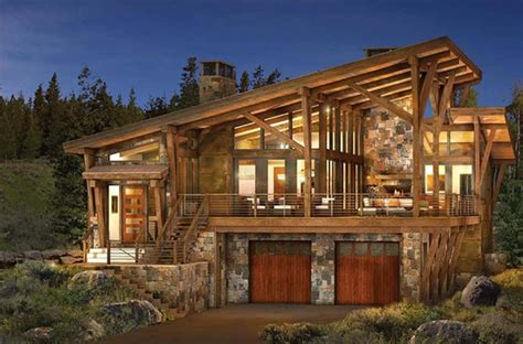 modern log and timber frame homes and plans by