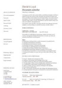 document controller cv sample job description file