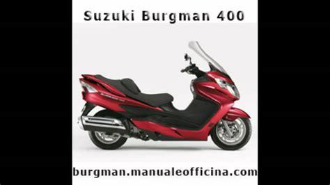 sostituzione candela burgman 400 suzuki burgman manuale officina in italiano