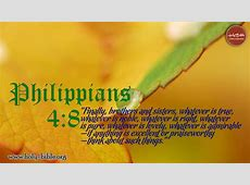 Bible Verse of the day – Philippians 4:8 | Holy Bible Hebrews 12:14