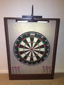 dart beleuchtung led lighted sandstone felt brown trim dart board backboard