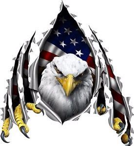 american flag eagle rip decal camper rv motor home mural