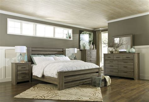 warm grey bedroom zelen 4pc poster bedroom set in warm gray