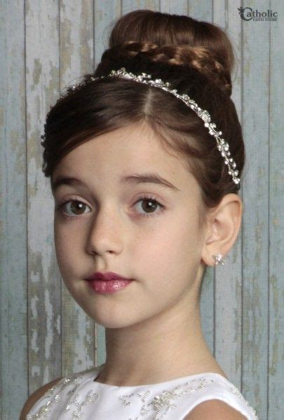 girl hairstyles vine first communion vine hair wrap clear communion