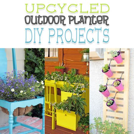 diy upcycled crafts upcycled outdoor planter diy projects the cottage market