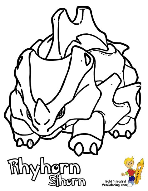 pokemon coloring pages rhyperior 84 pokemon coloring pages rhyhorn coloring pages