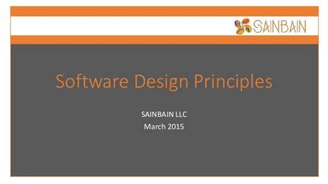 application design basics sainbain software design principles