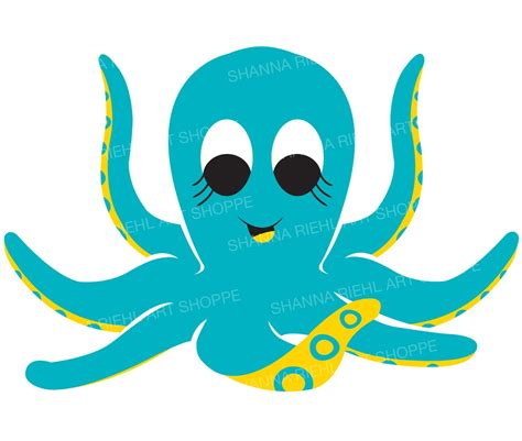octopus clipart octopus nautical clipart the sea octopus