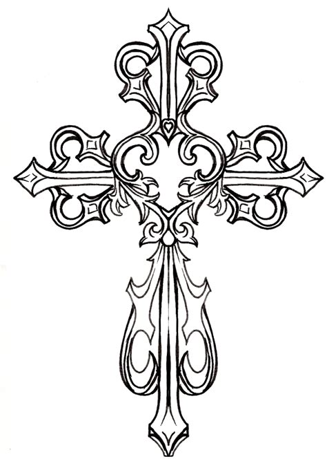 ornate cross tattoo ornate cross clipart