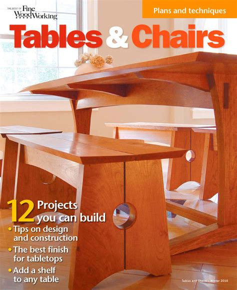 tables chairs finewoodworking