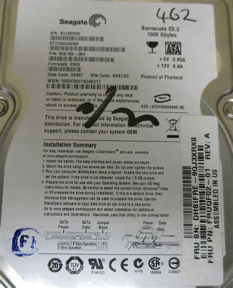 Hardisk Fujitsu 1tb fujitsu fibrecat seagate es st31000340ns 1tb sata 3 5