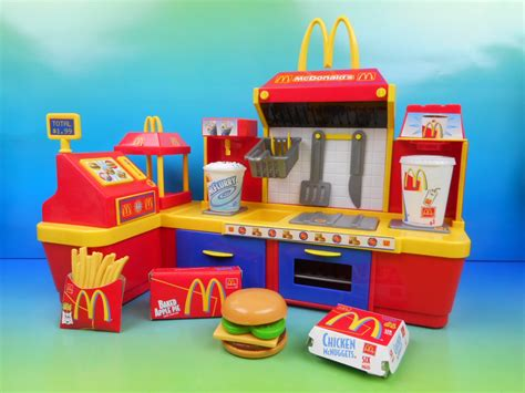 Set Mc K mcdonald s electronic fast food center 18 kid s play
