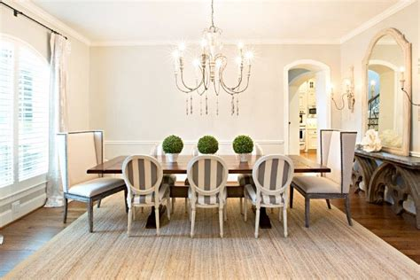 Gray Dining Room With Chair Rail Dining Room With Pale Gray Walls Accented With