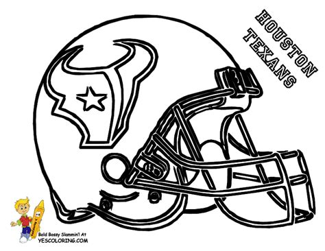 printable coloring pages nfl nfl football stencils houston texans football helmet