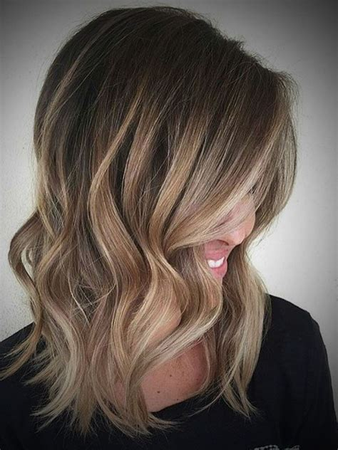 medium length hair with ombre highlights ombre hair dark brown to blonde medium length make me