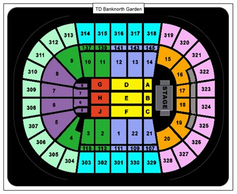 td bank seating gaga td garden tickets february 27 2013 at 7 00 pm