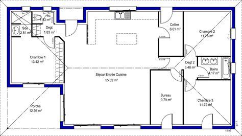 plan de maison 3 chambres salon adelina 33 maisons lara