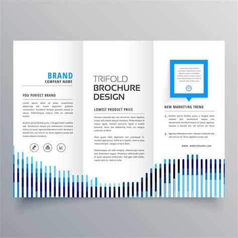 creative brochure design templates creative blue trifold business brochure design template