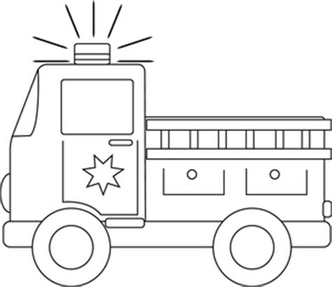 simple fire truck coloring page clip art black and white firetruck clipart image black