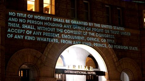 robin bell emoluments welcome anti trump light projection by robin bell