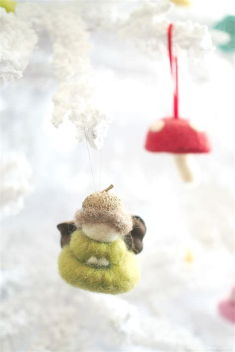 our needle felted christmas tree ornaments are up the
