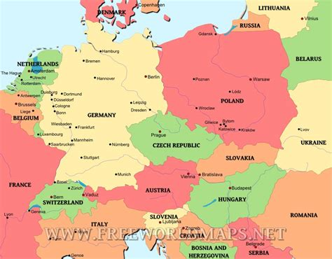 central europe map central europe map