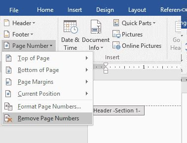 section breaks and page numbers add page numbers starting from specific page in word document