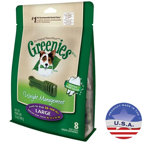 weight management 50 greenies weight management treats for dogs 50 100 lbs