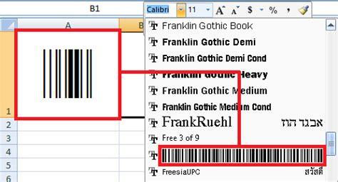 membuat barcode untuk buku cara mudah membuat barcode di microsoft excel tanpa
