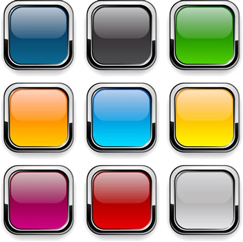 design app buttons app button icons colored vector set 06 free vector free