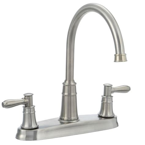 kitchen faucets stainless steel pfister harbor high arc 2 handle standard kitchen faucet