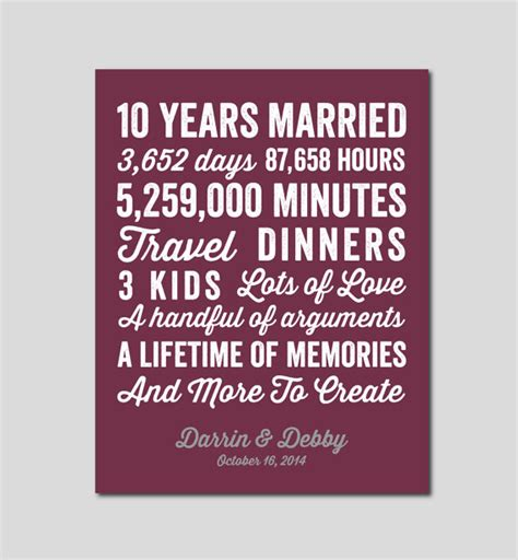 Anniversary 10 years marriage symbol