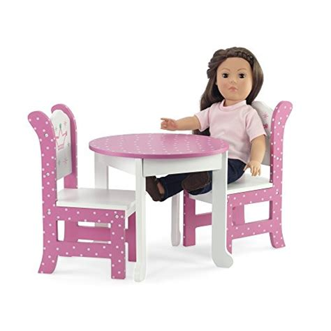 american girl doll chairs and table 18 inch doll furniture fits american girl dolls wish crown