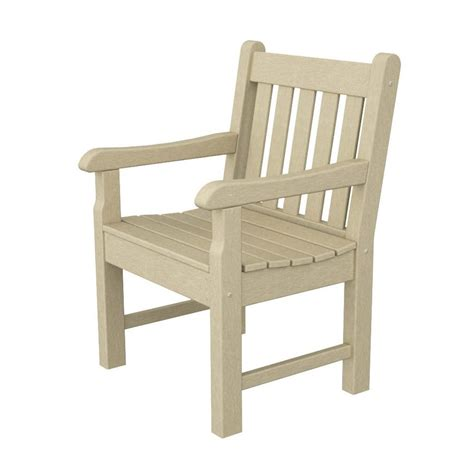 Conversation Chair by Shop Polywood Rockford Sand Plastic Patio Conversation