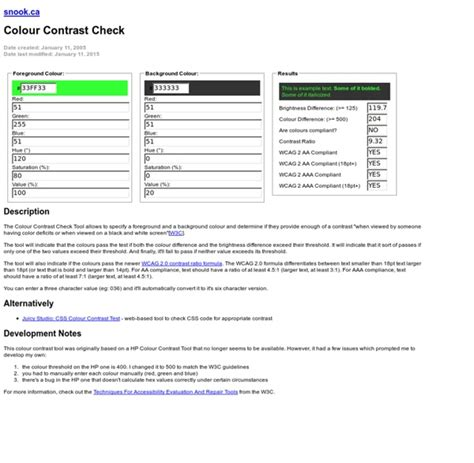 color contrast checker colour contrast check snook ca