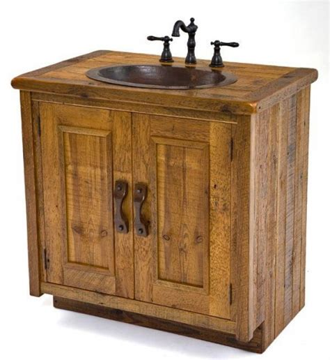 Wood Vanity by Vanities Rustic Bathroom Vanities Barnwood Vanities