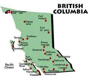 map of columbia canada with cities optional tours canada points of interest map of bc by
