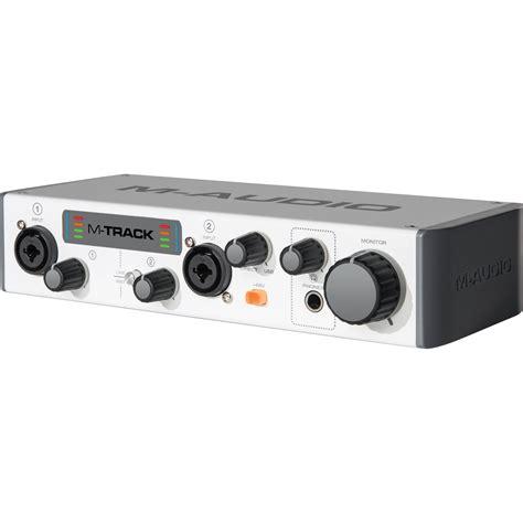 best portable audio interface m audio mtrack ii portable usb audio interface m track