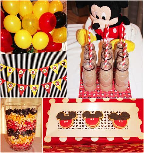 birthday themes mickey mouse a retro mickey inspired birthday party party ideas