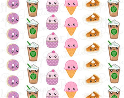 printable stickers kawaii kawaii cute food stickers printable pdf perfect for erin